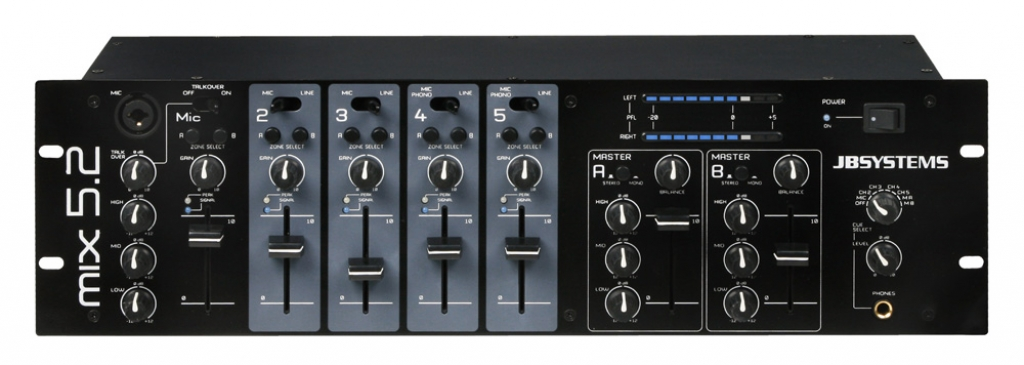 "JB Systems ""MIX 5.2"" 2-Zonen 19"" Mixer"