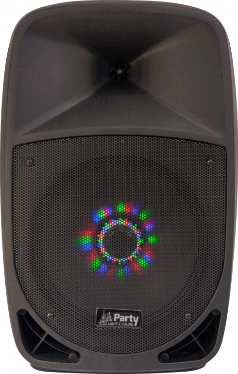 "PARTY Mobile PA-Anlage ""Party-12LED"" mit LED/USB/SD/MP3/VHF/BT/FM"