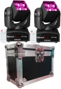 "BUNDLE: 2x BeamZ ""Matrix22Z""4x 10 Watt RGBW LED Zoom Matrix Beam Moving Head mit Case"